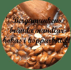 Branda-mandlar-kokas-i-koppar-kittel-bergamunken