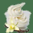 Frozen yoghurt i bägare triumfglass
