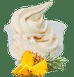 Frozen yoghurt ananas