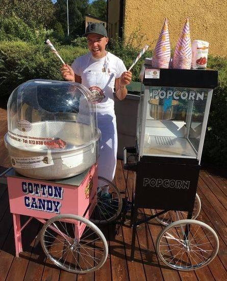 Hyra-popcornmaskin-sockervaddsmaskin-foretagsevent