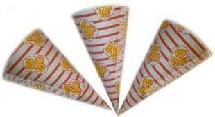 Popcornstrutar till popcorn popcornmaskin