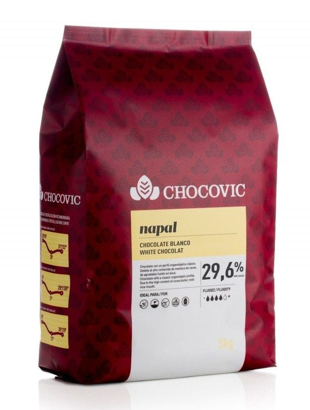 Vit choklad till chokladfontän
